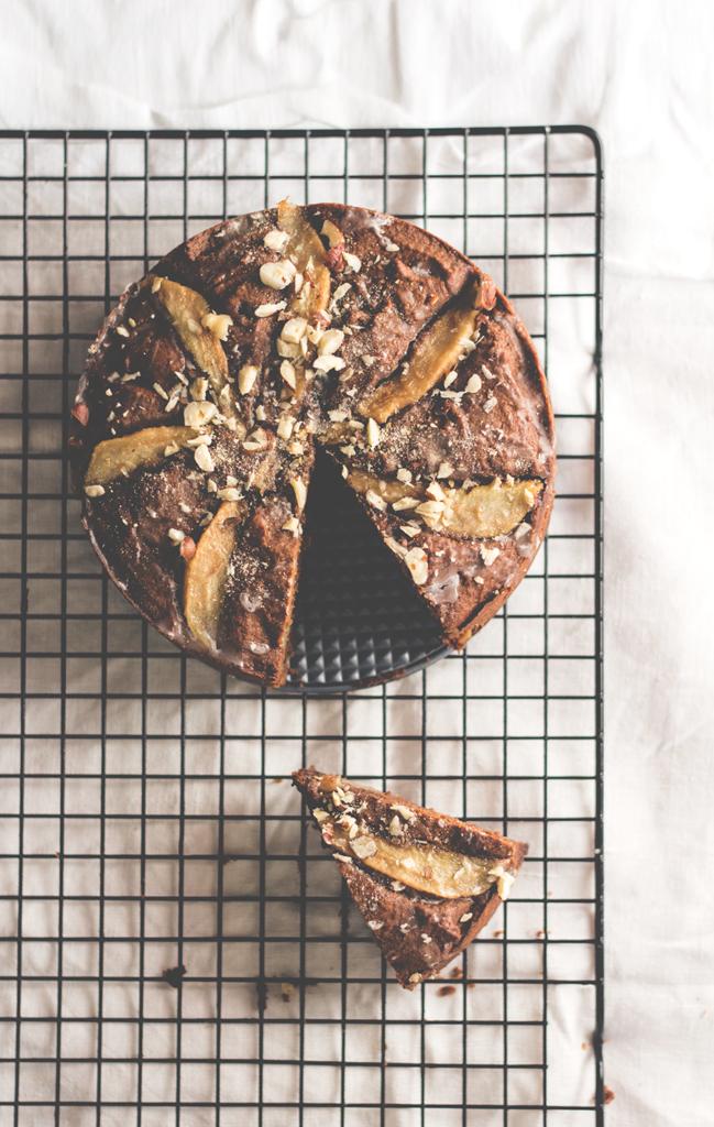 Kleiner Schoko-Birnen-Kuchen