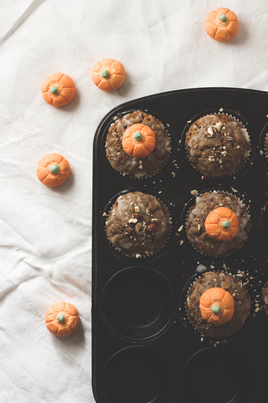 Kürbis-Haselnuss-Muffins