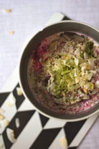 Amaranth-Joghurt mit Himbeeren