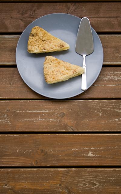 Apfel-Käsekuchen mit Streuseln