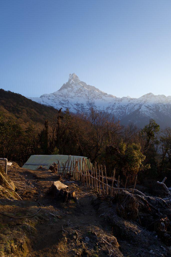 Blick vom Low Camp auf den Machapuchare
