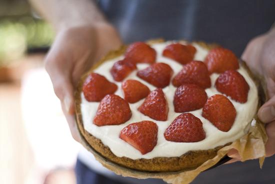 Erdbeer-Quark-Tarte