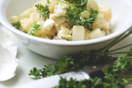 Falscher Kartoffelsalat Kohlrabi