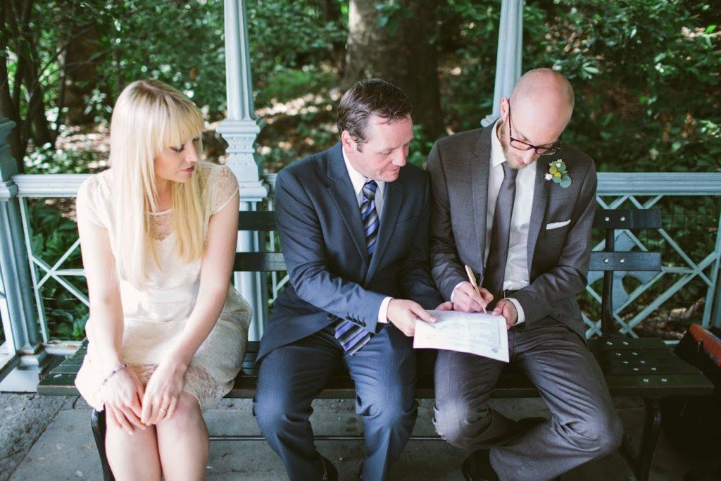 Hochzeit in New York City – Unterschrift