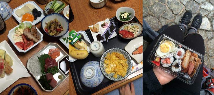 Essen auf dem Kumano Kodo