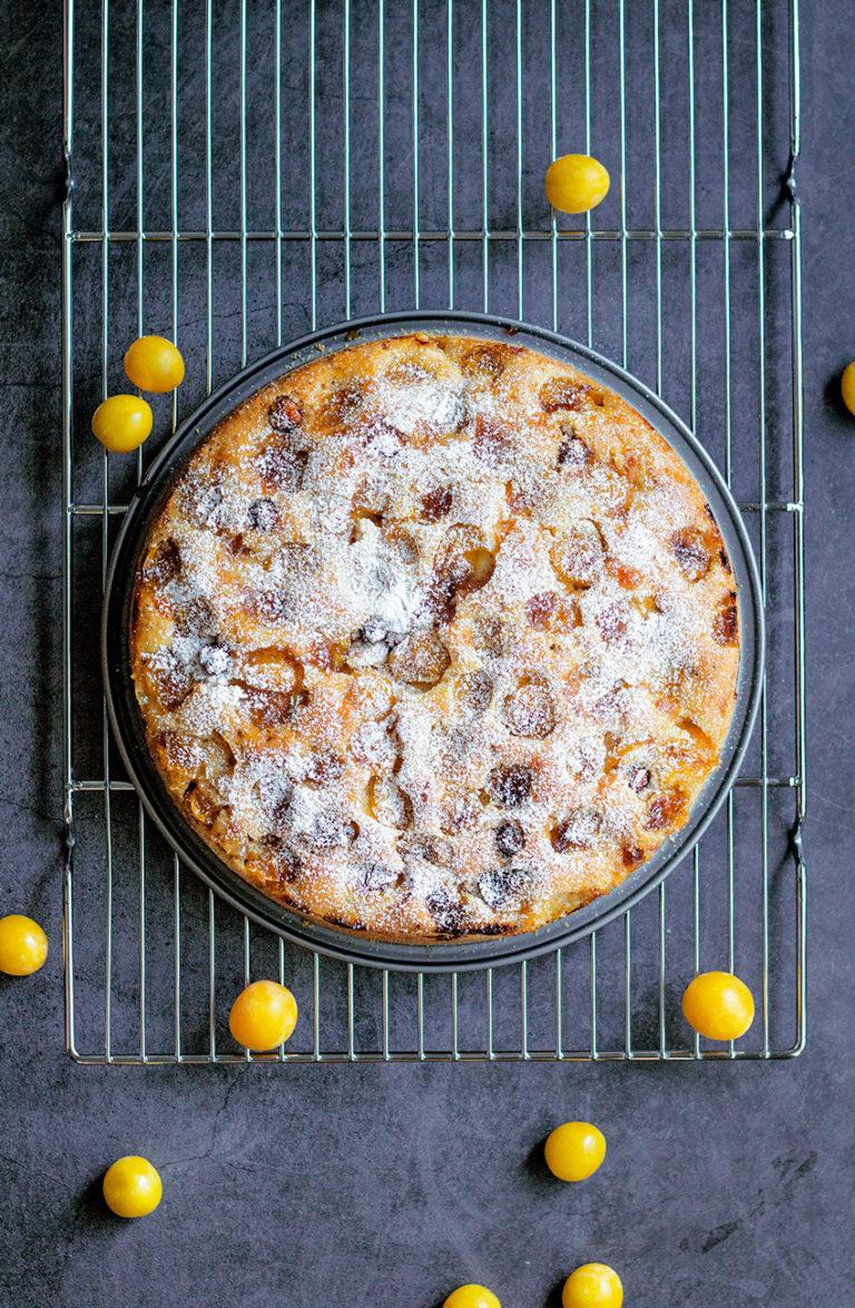 Mirabellen-Haselnuss-Kuchen