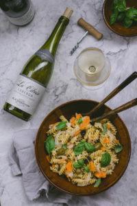 Nudelsalat mit Fenchel, Oliven und Kapern und dazu Weine aus dem Luberon