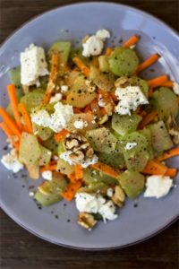 Rhabarber-Möhren-Salat