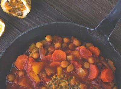 Passionsfrucht Curry mit Kichererbsen