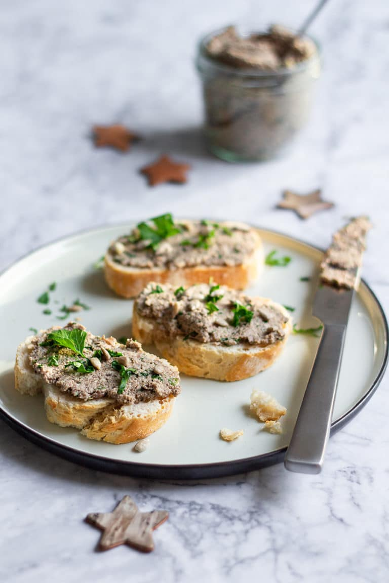 Vegane Champignon-Walnuss-Pâté