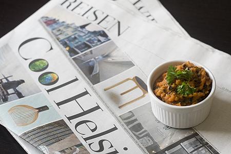 Möhren-Oliven-Creme mit Sesamsalz
