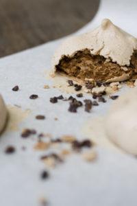 Chocolate Cocoa Nib Meringue
